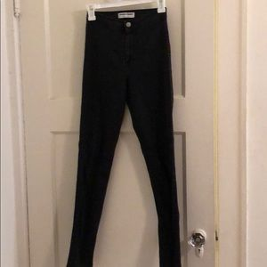 American Apparel Black Easy Jean size small